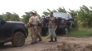 Game Warden pulled out of Mud by Dove Hunters