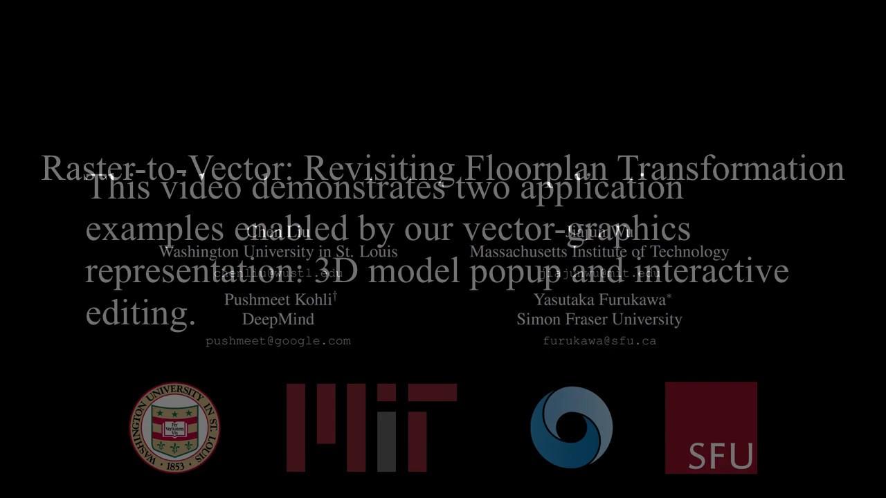 Raster-to-Vector: Revisiting Floorplan Transformation