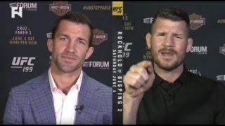 Luke Rockhold & Michael Bisping Show No Love Lost Ahead of UFC 199