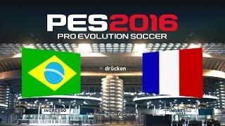 PES 2016 Demo Gameplay PS4 ★ Brasilien vs. Frankreich ★ Pro Evolution Soccer 2016