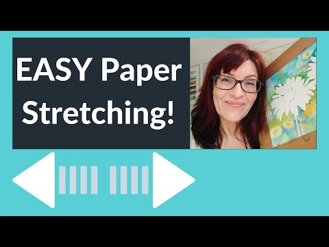 Stretching Watercolor Paper With Gummed Tape  (Easy!)