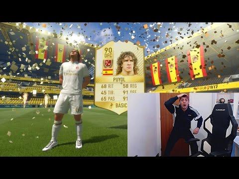 PUYOL LEYENDA IN A PACK...  EL INCREIBLE CHALLENGE - FIFA 17
