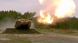 Прыжок под музыку в исполнении танка Т-90СМ