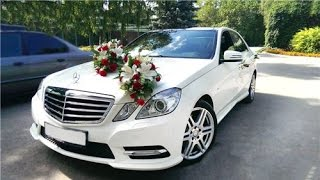 Заказать белый Mercedes-Benz на свадьбу в Иваново. Свадебный кортеж. Машины на свадьбу.