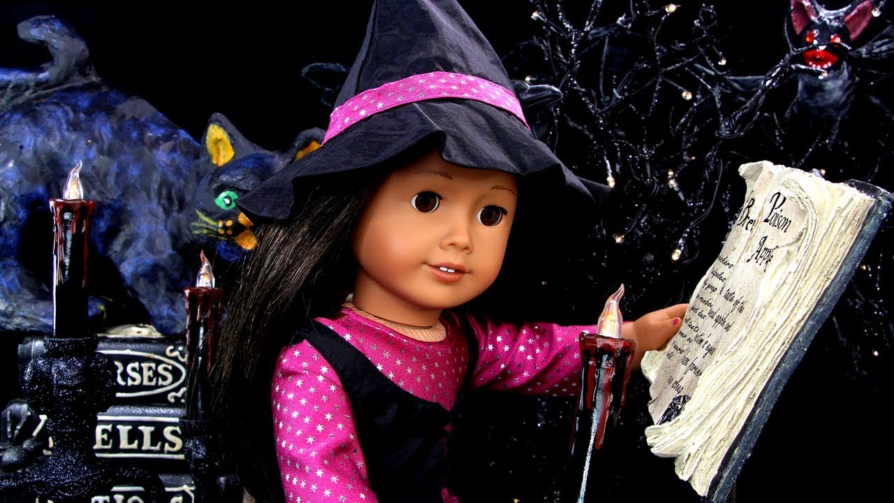American Girl Doll Haunted Halloween House Witches Room