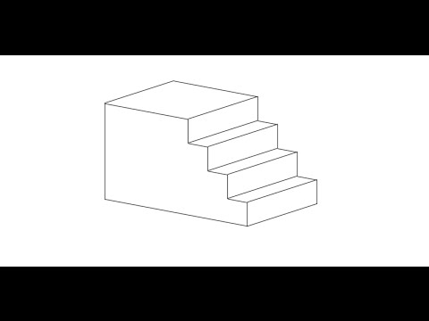 Draft an Isometric Projection View of Stairs