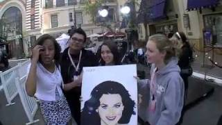 Katy Perry signs my painting