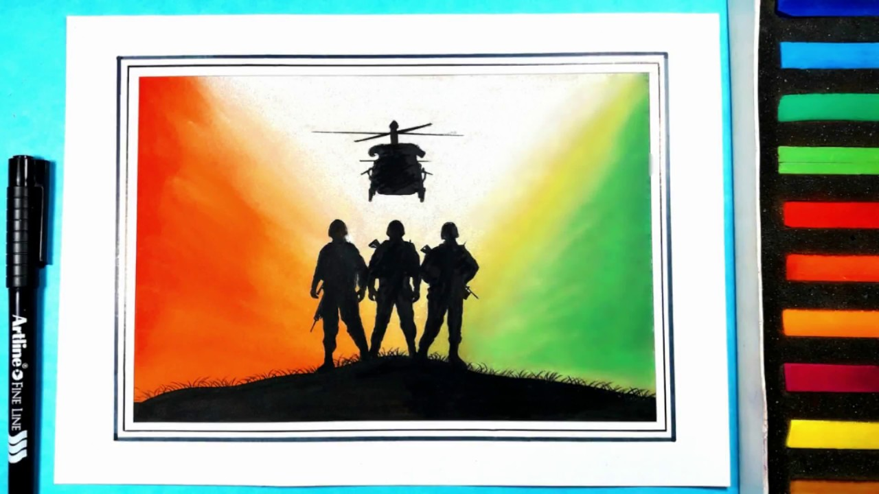 Independence Day Special Indian Army Drawing For Beginners Step By Step
