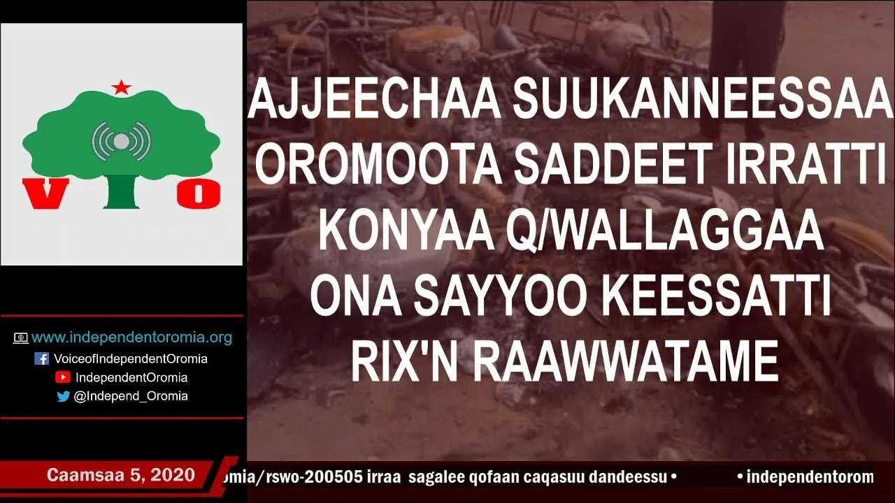 Ajjeechaa Suukanneessaa Oromoota 8 irratti, Ona Sayyoo keessatti Caamsaa 3, 2020 RIXn Raawwatame