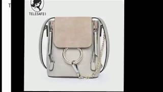 genuine leather woman bag fashion backpack
