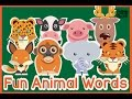 Frame from Learning Animal Vocabulary Words for Toddler | Cute & Fun Animal Videos for Kids | Playground4kids
