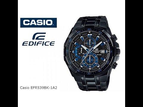 8511138ad3c3 Casio Edifice EFR 539 BK 1A2 - YouTube