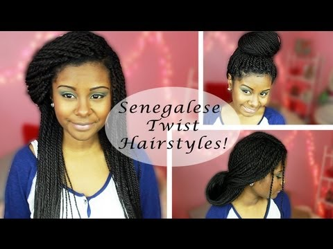 5 Senegalese Twists Hairstyles  Updos Big Bun and more  YouTube