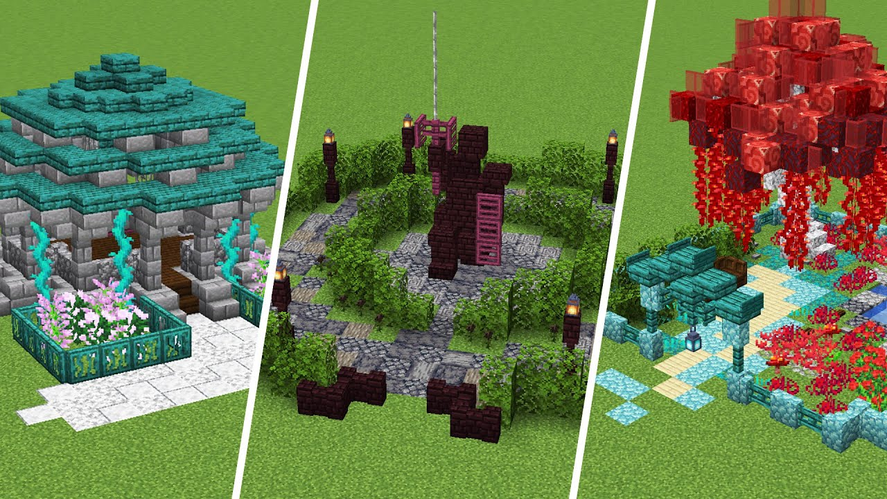 Minecraft Garden Ideas for 1.16 | Nether Update - YouTube