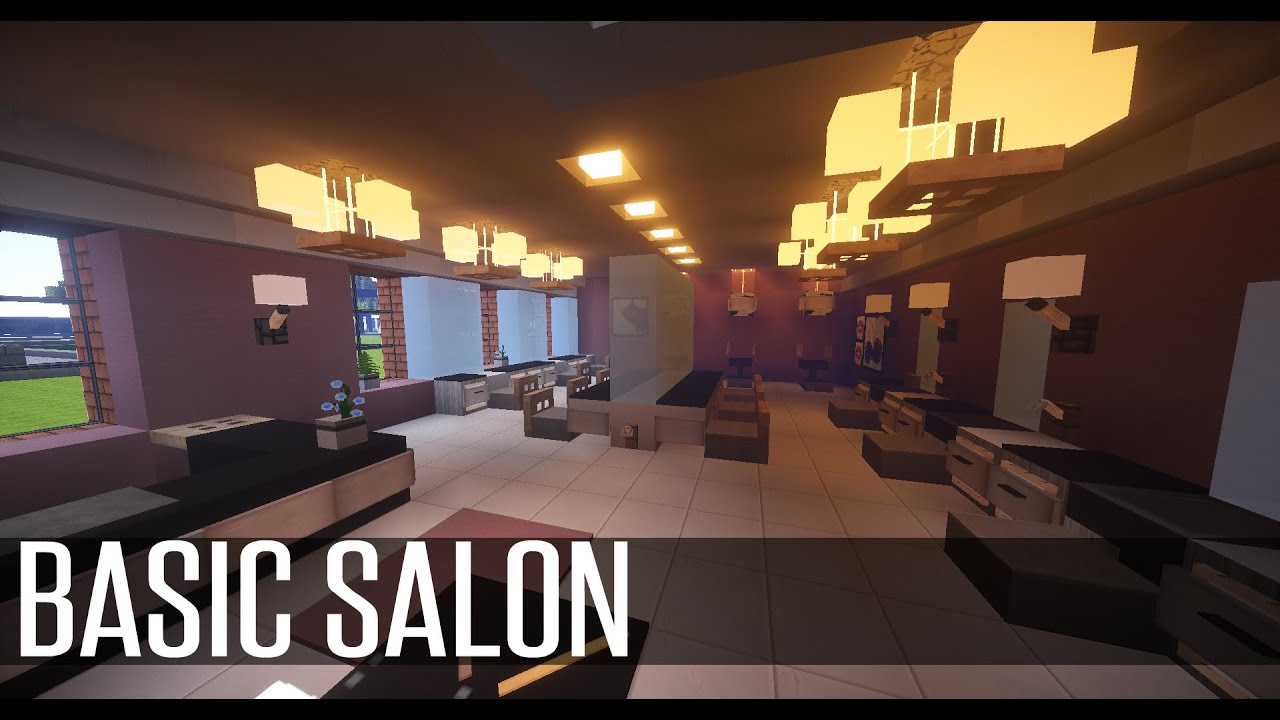 minecraft home improvements basic salon youtube. Black Bedroom Furniture Sets. Home Design Ideas