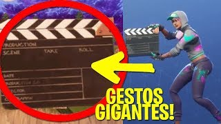GIANT GESTS IN FORTNITE *NEW TIP*!! GLITCH FORTNITE 😱 - MarkWTF