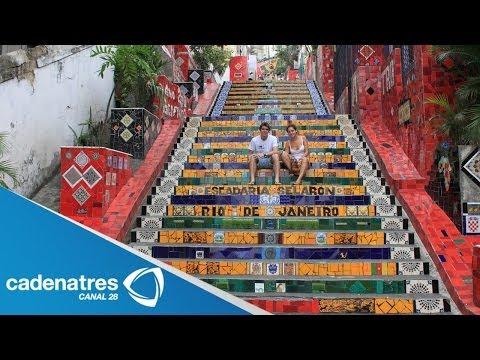 La escalera de Selarón, joya turística de Río de Janeiro