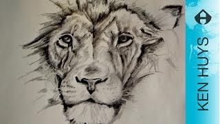HOW TO DRAW A LION - HOE TEKEN JE EEN LEEUW