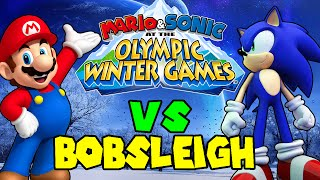 ABM: Mario & Sonic Olympic Winter Game Mario vs Sonic!! *Bobsleigh* HD!!