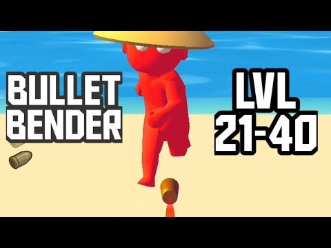 BULLET BENDER Game Level 21-40 Walkthrough