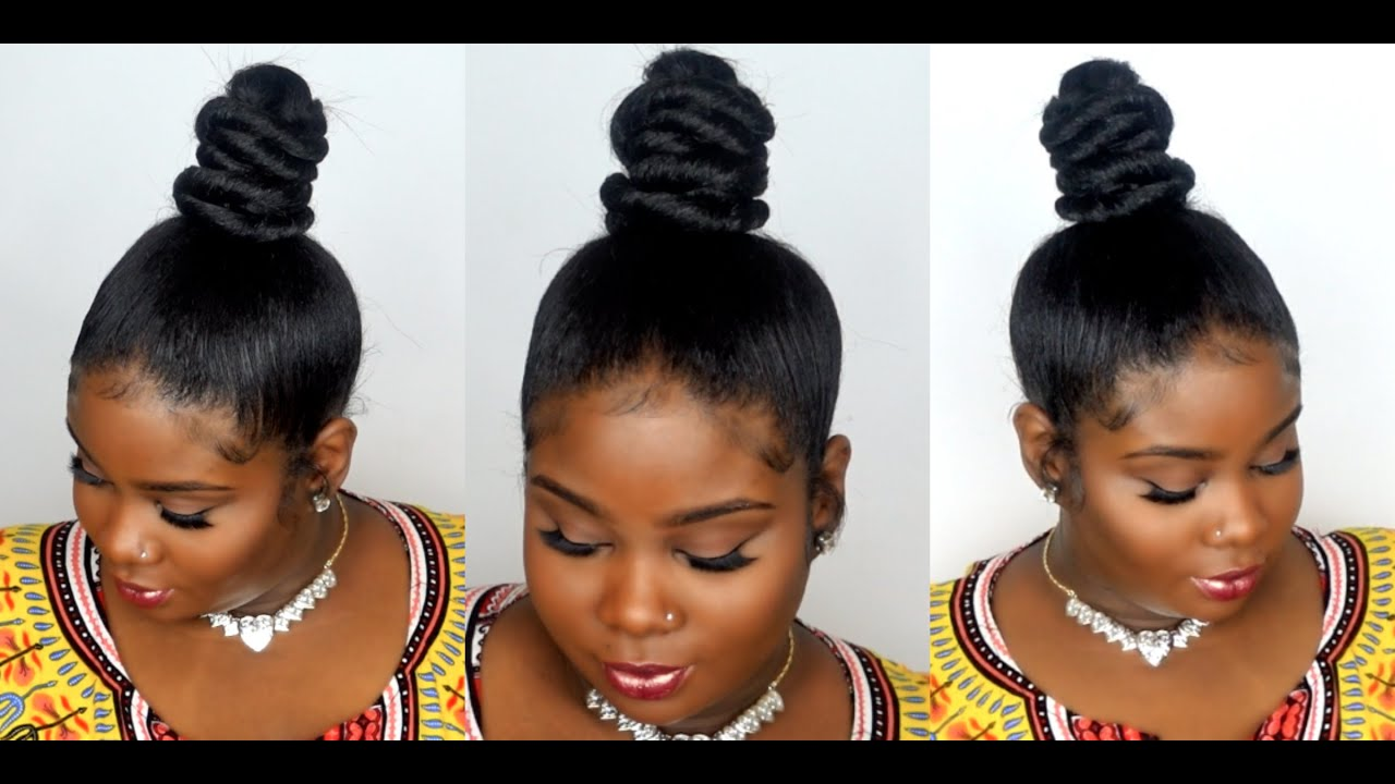 Topknot Bun Amp Babyhair Youtube