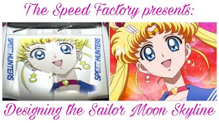 Need For Speed 2015  Painting the Sailor Moon Skyline (time lapse)