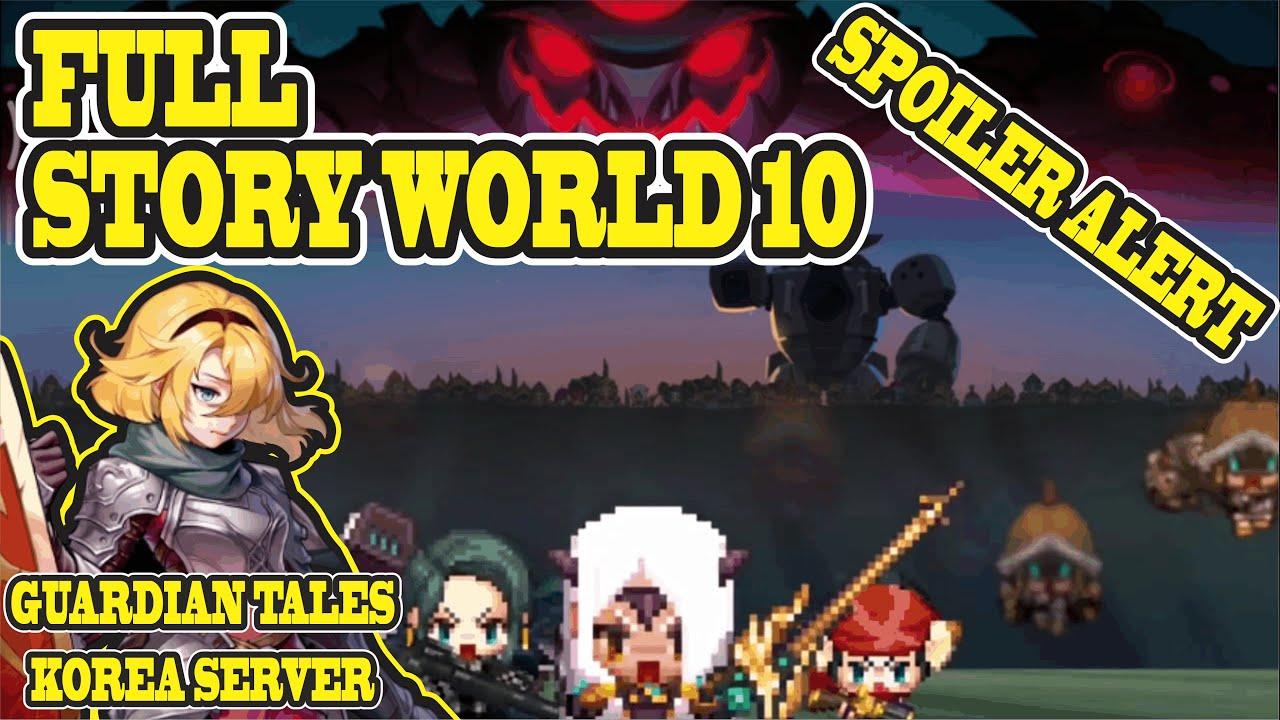Guardian Tales Korea Server Full Story World 10 Completed | Future Princess