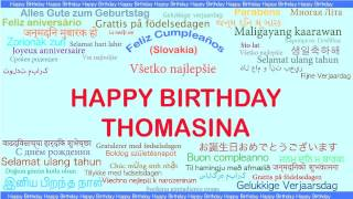 Thomasina   Languages Idiomas - Happy Birthday
