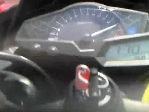 2013 Ninja 250 Fi Top Speed 170km/h !!! - YouTube