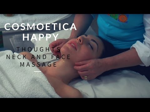 ASMR. Cosmoetica Happy Thoughts Neck And Face Massage