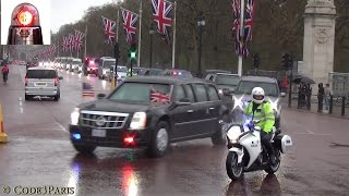 President Obama Secret Service Motorcade in London 2016