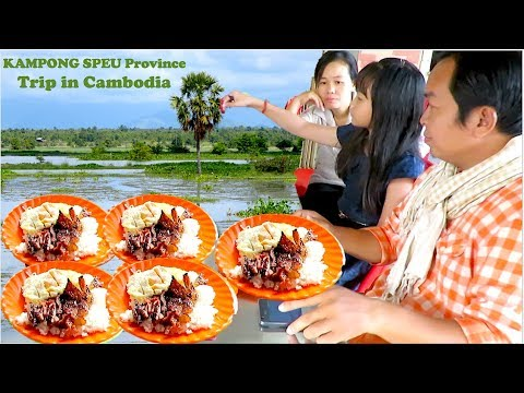 Travel to Amleang Commune in Kampong Speu Province | Picnic Lunch & Relax at Chreav Area in Cambodia