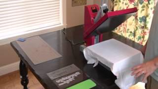 Using Siser Heat Transfer Vinyl and a Heat Press