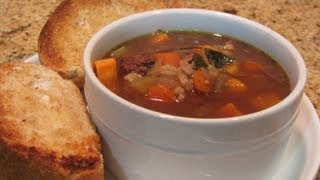 The Best Beef & Barley Soup