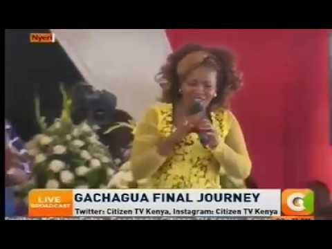 Regina Muthaiga - Performing at Nderitu Gachagua's Funeral - ii niwe, aca tiwe..