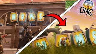NOMS SIGN LOCATION AFTERMATH | FORTNITE SEASON 5 SECRETS