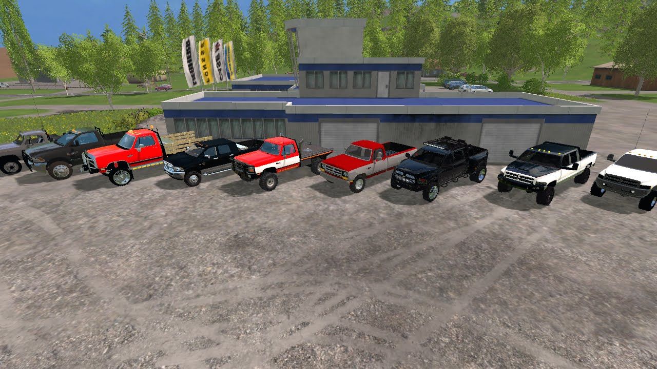 Farming Simulator 2015 Mods- A Lot of Trucks (Dodge Only)