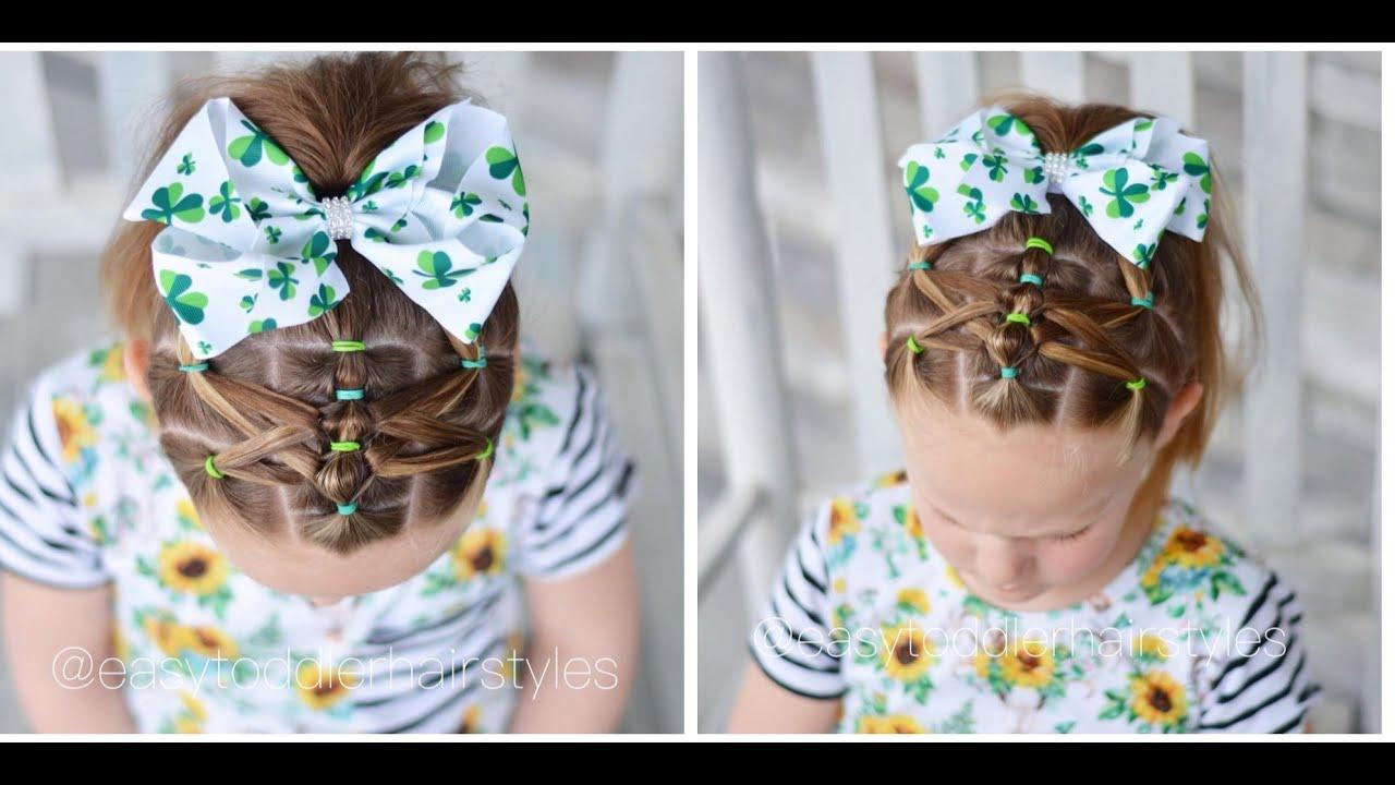 Threaded Bubble Ponytail Hair Tutorial