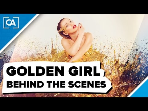"Studio Shooting ""Golden Girl"" Behind the Scenes // Fashion & Beauty - caphotos.de"
