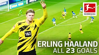 Erling Haaland - 23 Goals In Only 22 Bundesliga Games