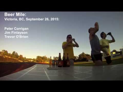 Jim Finlayson Beer Mile World Record