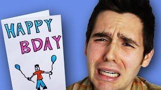 BIRTHDAY CARD MAKES BOY CRY!