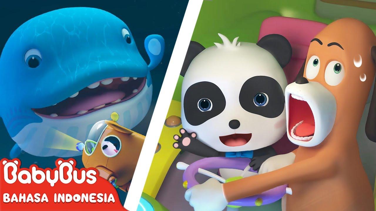 Panda Kiki Membantu Bayi Paus Yang Dalam Masalah | Kartun Anak Indonesia | BabyBus Bahasa Indonesia