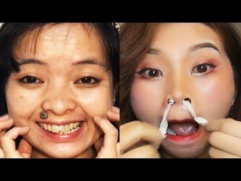 Asian Makeup Tutorials Compilation 2020 - Basic makeup guide / part71 - 동영상