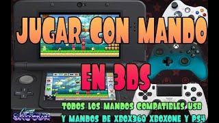 Tutorial 3DS: Conectar cualquier mando a 3ds, mandos PS4 Xbox360 XboxOne y mandos USB