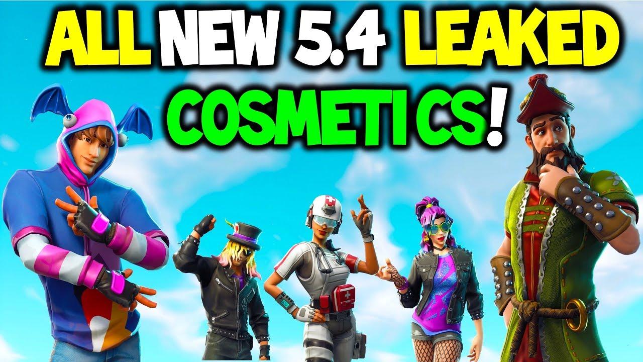All New V5 4 Fortnite Leaked Skins Emotes Back Blings Gliders