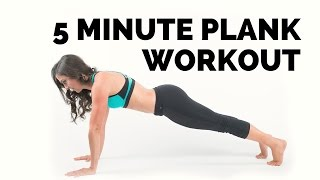 5 Minute Plank Workout to get a strong body and abs