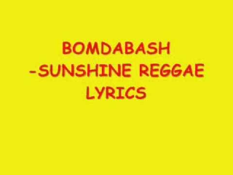 BOOMDABASH   SUNSHINE REGGAE LYRICS