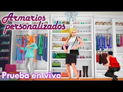 Sims Freeplay    Prueba en vivo: ARMARIOS PERSONALIZADOS + Boutique de MichiiiRo ♥