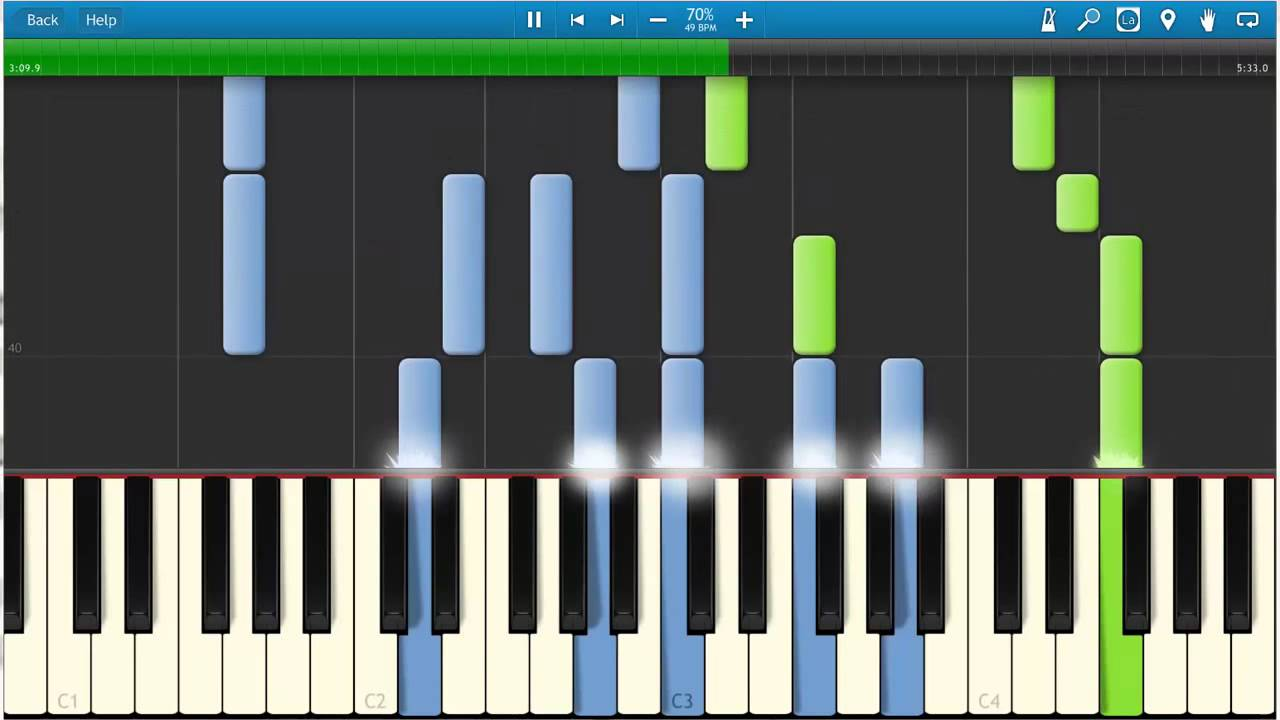 Piano Synthesia Dreaming of a Broken Heart Slow 15